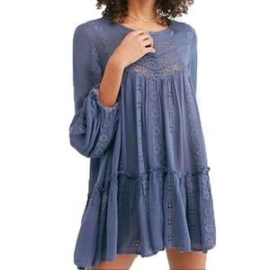Free People Blue Kiss Kiss Tunic Size S